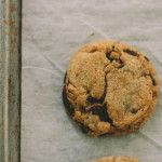 whole wheat chocolate chip cookies. with spelt, and fleur de sel, and cacao nibs.