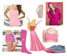 Sleeping Beauty-inspired fitness fashion for your next workout. Rock Aurora's signature look at a marathon or gym. | [ http://blogs.disney.com/disney-style/fashion/2016/02/20/looks-from-the-disney-princess-half-marathon/ ]