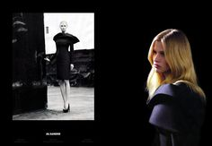 Jil Sander F/W 2008 campaign Model: Lara Stone Photographer: Willy Vanderperre
