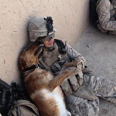 Military dog. May God watch over our soldiers, those with two legs and those with four. Happy Fourth of July and Thank You for your Service!