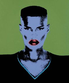 Grace Jones, oil an acrylics on canvas, Martin Torsleff