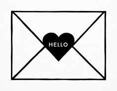 Hello Envelope card by Hello Paper Co. on Postable.com