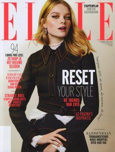 ELLE - FEBRUARY 2015 / Photography: Lotte van Raalte / Styling: Nicole Huisman / Hair & make-up: Elise Haman / Model: Saadi Publications | À la