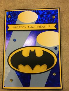 Super hero birthday card