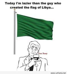 The flag of Libya