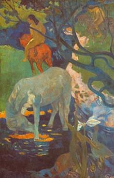 Paul Gauguin,  The White Horse Fine Art Reproduction Oil Painting