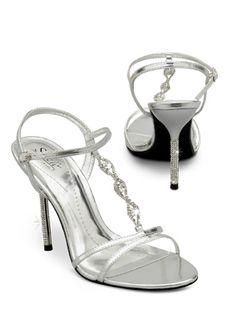 Rhinestoned T-Strap Sandal. Sizzle by Coloriffics.  Style Coronado