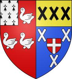 Blason ville fr Ambierle (Loire) - ANCIEN PRIEURE ST MARTIN D'AMBIERLE, MONUMENT HISTORIQUE
