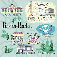 Baden Baden map - Anna Simmons
