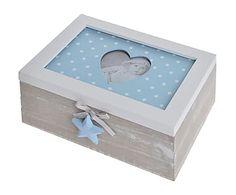 Caja de madera Star - azul