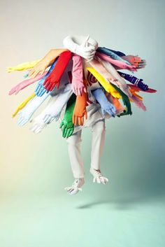 """Hug me"" by Si Chan is very appealing. The colors catches my eyes and form of the arms and hands are very unique."