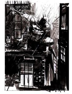 It was one of those dark rainy nights when I was out there in a dingy alleyway, pursuing Joker when suddenly....