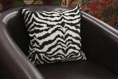 Zebra Striped Pillow (at Meijer stores)  #MeijerDormDecor #DormDecor