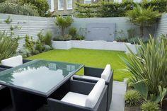 Pristine minimalist garden