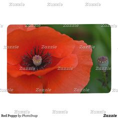 Red Poppy Floor Mat