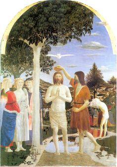 62. Chrzest Chrystusa, della Francesca, ok.1460, National Gallery.jpg