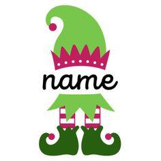 Silhouette Design Store: Personalized Name Elf - Girl Christmas Mugs, Christmas Colors, Christmas Shirts, Christmas Time, Christmas Crafts, Christmas Decorations, Christmas Drawing, Christmas Coloring Pages, Christmas Templates