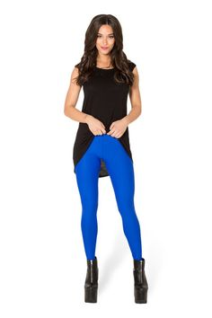 Matte Royal Blue Leggings › Black Milk Clothing - Bought in M. Royal Blue Leggings, Black Leggings, Yoga Leggings, Yoga Pants, Galaxy Tights, Black Milk Clothing, Body Fitness, Leggings Fashion, Sexy Legs