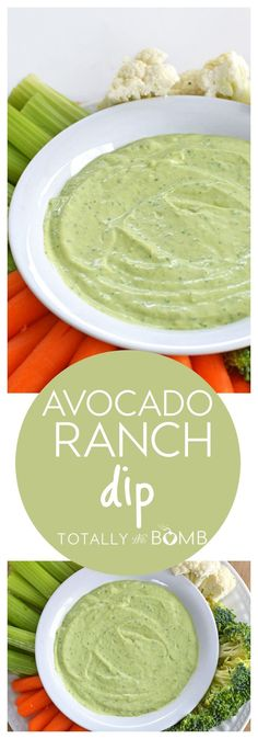 Avocado Ranch Dip Recipe - Need a quick but tasty dip recipe? This avocado ranch dip recipe is the perfect appetizer! Serve it anytime you need a go-to dip!