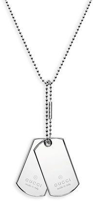Gucci Silver Dog Tag #Necklace