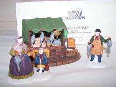 3 Dept 56 Heritage Village Poultry Market Figurines NIB