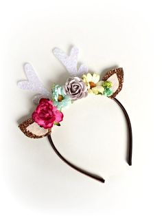 Deer Headband Fawn Ears Deer Headband Bambi by littleblueolive