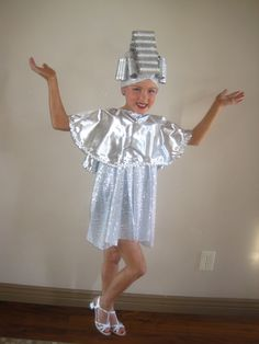 Beauty school dropout, grease costume. Silver lamé and spray painted curlers.  Megan's Creations: Cakes and costumes