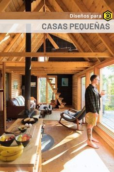 38 Affordable DIY Tiny House Remodel Ideas to Copy Right Now House Plan With Loft, House In The Woods, House Plans, Ravens Home, Rustic Stairs, Tiny House Design, Cabin Rentals, Rustic Interiors, Home Remodeling