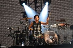 Dominic Howard of Muse performs on stage during BBC Radio 1's Big Weekend at Earlham Park on May 23, 2015 in Norwich, England.