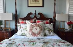 Master Bedroom-Pottery Barn Winter Birds-Christmas 2014 Housepitality Designs