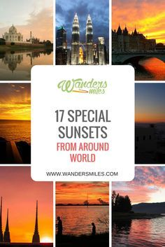 Discover 17 special sunsets from around the world by travel bloggers. We all have amazing memories of our favourite sunsets!