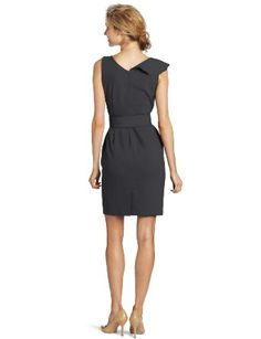 Amazon.com: Calvin Klein Women's Ruffle Front Belted Sheath Dress: Clothing