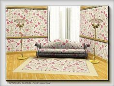 marcorse's Victorian Floral Pink pattern