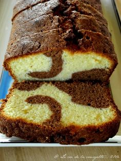 """Cake marbré façon """"Savane"""" & sans gluten - a modifier remplacer le beurre par du """"beurre"""" végétal et tout choco. Pas de chocolat blanc"""