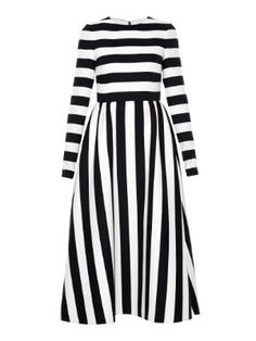 Stripe-print crepe dress | Valentino | MATCHESFASHION.COM US