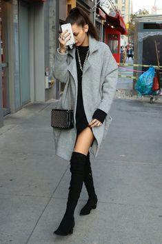 Bella Hadid rocking the model offduty look.