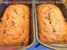 Healthy Chocolate Chip Zucchini Bread Delicious Desserts, Dessert Recipes, Yummy Food, Healthy Meals, Healthy Eating, Chocolate Chip Zucchini Bread, Cooking Bread, Recipe Sites, Dessert Bread