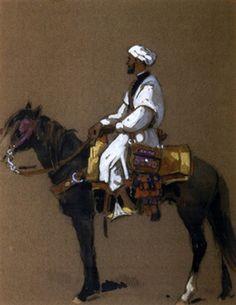 Cavalier marocain von Edouard Edmond Doigneau