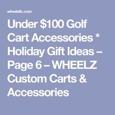 bull the world s catalog of ideas under 100 golf cart accessories holiday gift ideas page 6 wheelz custom carts