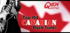 Top 104 Canadian Rock Tunes