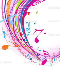 Abstract music notes   staff