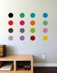 With colors like lemon, cotton candy pink and kiwi, BLIK Sweet 16 polka dot wall decals add delicious color and a sense of fun to your home decor.