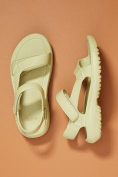 Designed for the avid adventurer, these water-resistant sandals feature an injection-molded silhouette that's build for comfort and durability. About Teva Creators of â\u0080\u009cthe original sport sandal,â\u0080\u009d Tevaâ\u0080\u0099s first-ever design dates back to a Grand Canyon outing in 1984. When a resourceful adventurer placed two adhesive fabric straps on a pair of sandals thereby ensuring the wearer wouldnâ\u0080\u0099t lose them as they hiked a brand was born. Today, the… Hiking Sandals, Sport Sandals, Slide Sandals, Ideal Fit, Lace Up Sandals, Women's Sandals, Ladies Day, Italian Leather, Slip On