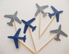 Airplane Party Decoration. Ships in 2-5 by ConfettiMommaParty