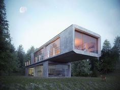 """We've filtered through the last few months of submissions and picked out some of the best renderings showcasing the perfect lighting you can only find during """"the magic hour"""". 3d Architectural Visualization, Architecture Visualization, 3d Visualization, Rendering Art, Archi Design, 3d Architecture, Magic Hour, Innovation Design, Early Morning"""