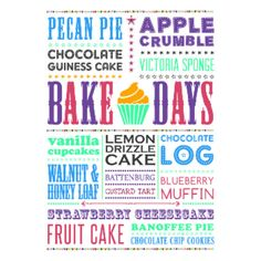 Moha London Bake Days A1 Framed Print ($160) ❤ liked on Polyvore featuring home, home decor, wall art, inspirational wall art, white home decor, white wall art, london wall art and motivational wall art