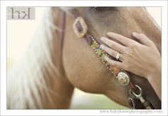 Beautiful Horse Engagement Ring Shot- could do with any pet- cute engagement ring shot idea