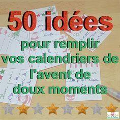 Trucs de Maëliane, le blog.: Noël #4 : 50 idées à mettre dans le calendrier de l'avent ( + tickets imprimables offerts )