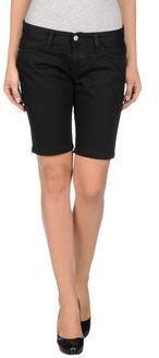 $30, Black Denim Shorts: Carhartt Denim Bermudas. Sold by yoox.com. Click for more info: https://lookastic.com/women/shop_items/182152/redirect