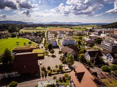 Drone flight over Niederrohrdorf, Switzerland. #phantom4 #djiphantom4 #Niederrohrdorf